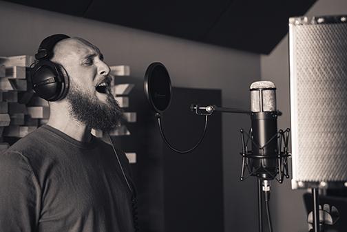 Dimitri singing in the studio